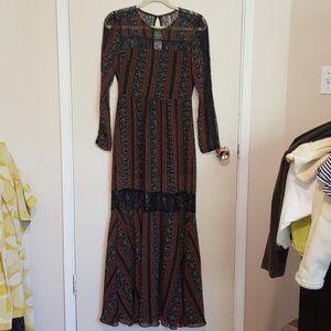 BCBGeneration chiffon and lace prairie dress